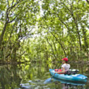 River Kayak Art Print
