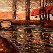 River Landscape Art Print