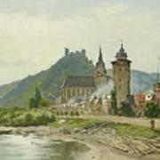 River Landscape Of The Rhine Art Print