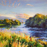 River Moy At Ballina Art Print
