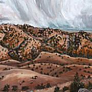 River Mural Autumn Panorama Art Print
