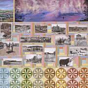 River Mural Summer Panel Bottom Half Art Print