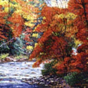 River Of Colors Print by David Lloyd Glover