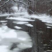 River Of Melting Ice Art Print