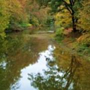 River Reflection Autumn Sunday Art Print by Terry  Wiley