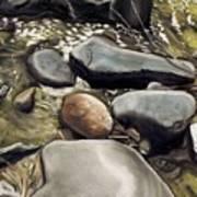 River Rock Formations Art Print