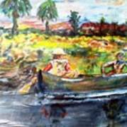 River Romance Art Print