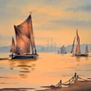 River Thames At Greenwich London Art Print