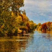 River Thames At Staines Art Print