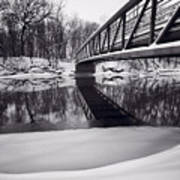 River View B And W Art Print