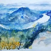 River View Landscape Art Print