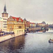 River Vltava Art Print