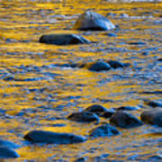River Water And Rocks Art Print