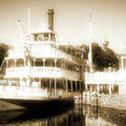 Riverboat, Liberty Square, Walt Disney World Art Print