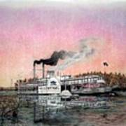 Riverboat Saint Paul Art Print