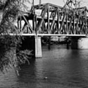 Riverfront Bridge Art Print