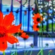 Riverhouse Flowers Art Print