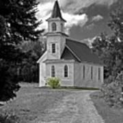 Riverside Presbyterian Church 1800s Bw Art Print