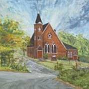 Riverton Church Art Print