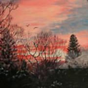 Riverton Sunset Art Print