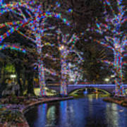 Riverwalk Christmas Art Print