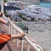 Riviera Breeze Art Print