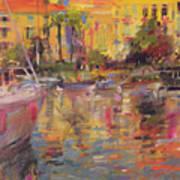 Riviera Moorings  Art Print