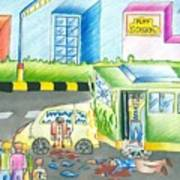 Road Accident Art Print by Tanmay Singh