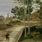 Road From Volterra Art Print