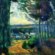 Road Leading To The Lake, By Paul Cezanne, Circa 1880, Kroller-m Art Print