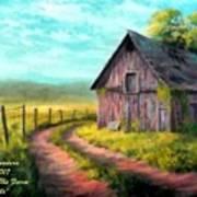 Road On The Farm Haroldsville L A Art Print