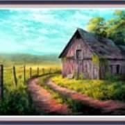 Road On The Farm Haroldsville L B With Alt. Decorative Ornate Printed Frame.   Art Print