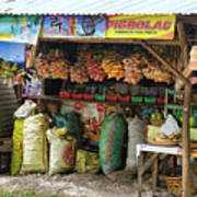 Road Side Store Philippines Art Print