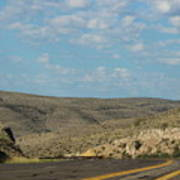 Road Through New Mexico Desert High Noon Art Print