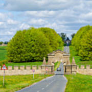 Road To Burghley House-vertical Art Print