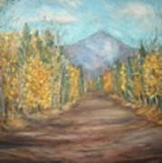 Road To Mountain Art Print