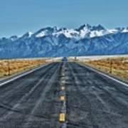 Road To Mountains Art Print