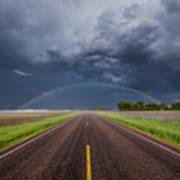 Road To Nowhere - Rainbow Art Print
