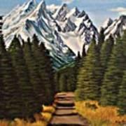 Road To Olympus Art Print
