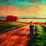 Road To Red Gables Art Print