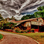 Road To Shiloh Farm's Barn Art Print