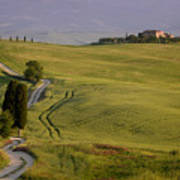 Road To Terrapille In Tuscany Art Print