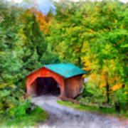 Road To The Covered Bridge Art Print