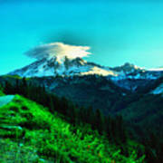 Road To The Mountain  Art Print