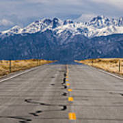 Road To The Mountains Panorama Art Print