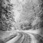 Road To Winter Art Print