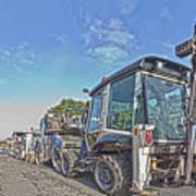 Road Work Machines Hdr Art Print