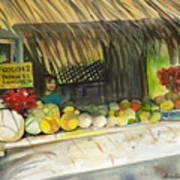Roadside Fruit Stand Art Print