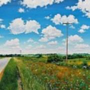 Roadside Prairie Art Print