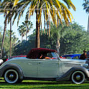Roadster At The Castle Art Print